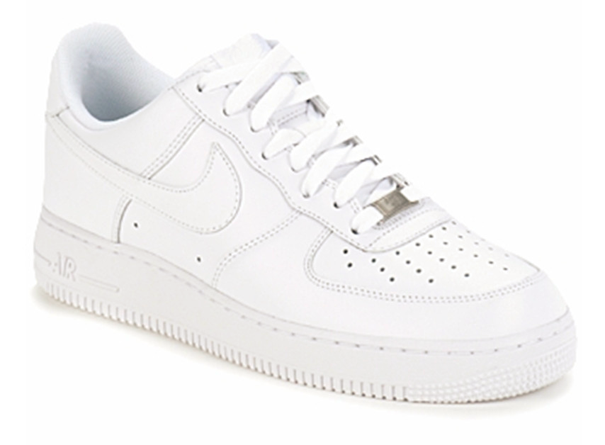 Nike Men's NEW AIR FORCE 1 '07 Shoes ALL WHITE 315122-111/
