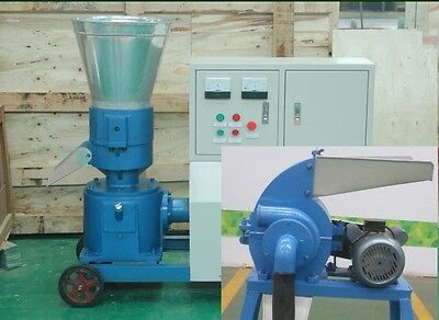Combo Pellet Mill 7.5kw 10hp Hammer Mill 7.5kw Electric Engine In Usa Already