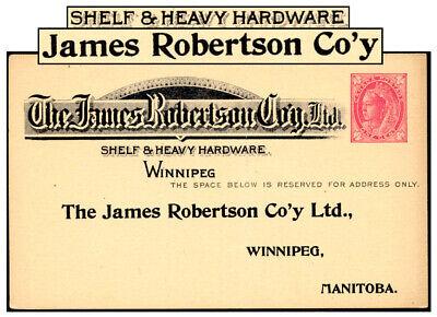 CANADA 1¢ PSC JAMES ROBERTSON HARDWARE WINNIPEG P18