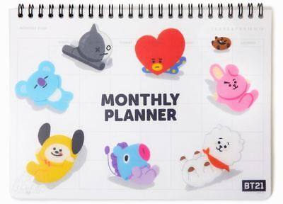 BT21 BTS Official Character Spring Monthly Planner