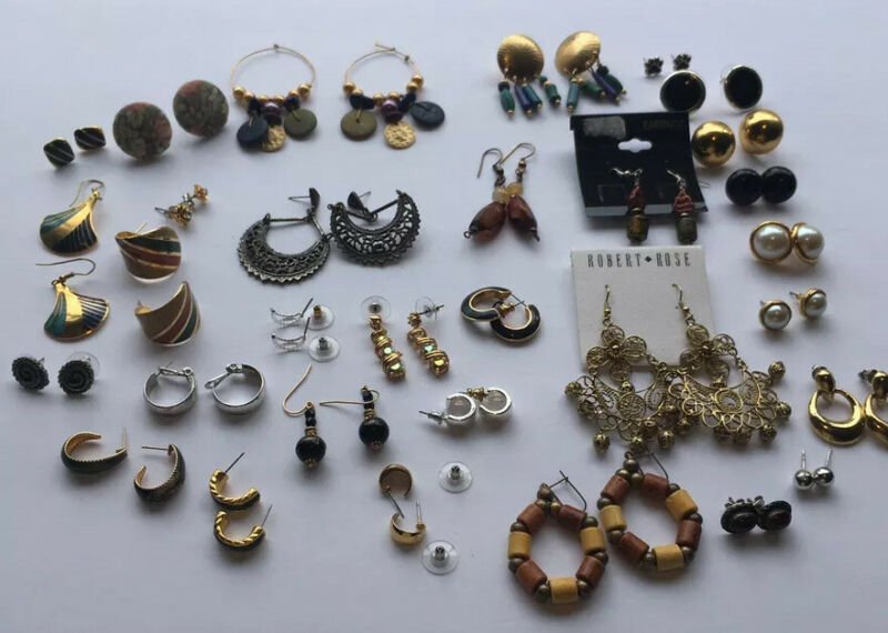 Pierced earrings. Numerous ones to pick from. A great lot.
