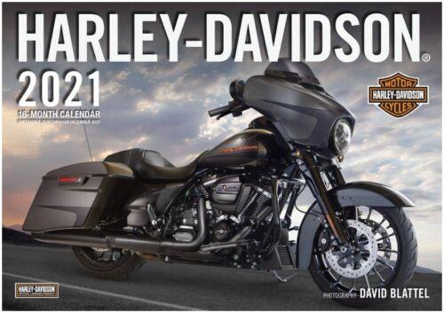 2021 Harley-Davidson Motorcycle Calendar 16 months w/ Free Art Poster