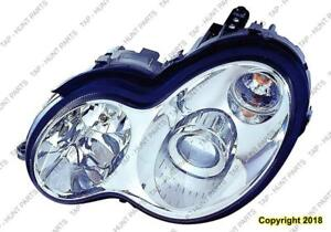 Head Lamp Driver Side Withbi-Xenon Type Sedan/Wagon (Without Bulb/Module Except C55) High Quality Mercedes C-Class 2002-