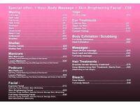 Mobile beauty therapy therapist wax facial manicure pedicure shellac NAILS Brazilian keratin TINT