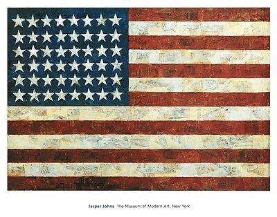 Flag, 1954 by Jasper Johns Pop Art Print MOMA Poster USA American 38x30