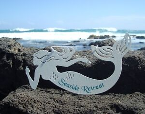 SEASIDE-RETREAT-Nautical-Ocean-Seaside-Tropical-Beach-Home-MERMAID-Decor-Sign