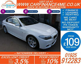 2013 BMW 535D 3.0 TD M-SPORT GOOD / BAD CREDIT CAR FINANCE FROM 109 P/WK
