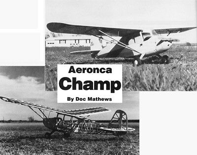 Model Airplane Plans  Rc   Aeronca Champ 1 8 Scale 52  For  09 15 By Doc Mathews
