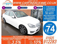 2013 MERCEDES C250 CDI AMG SPORT GOOD / BAD CREDIT CAR FINANCE FROM 74 P/WK
