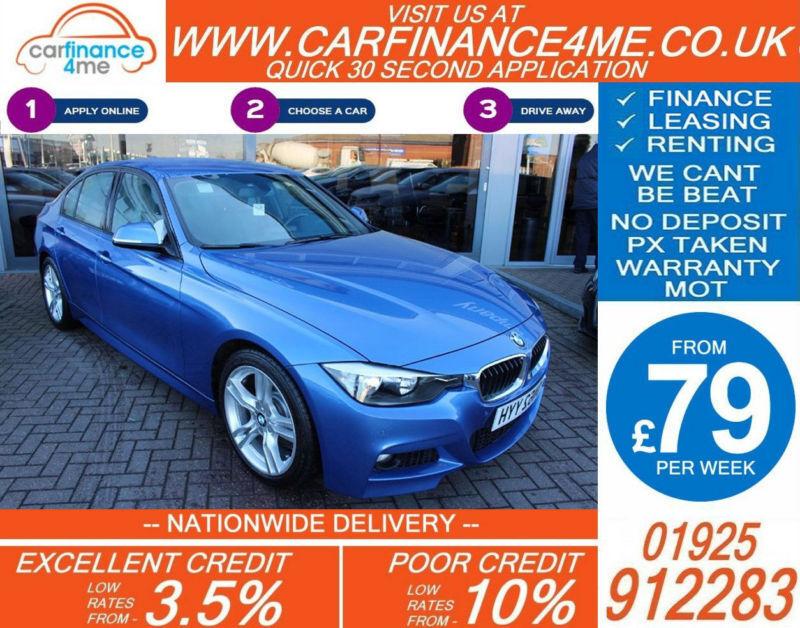 2012 BMW 330D 3.0 TD M-SPORT GOOD / BAD CREDIT CAR FINANCE FROM 79 P/WK
