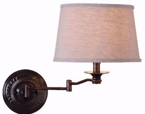 Riverside Copper Bronze Wall Swing Arm Lamp by Kenroy Home - NEW