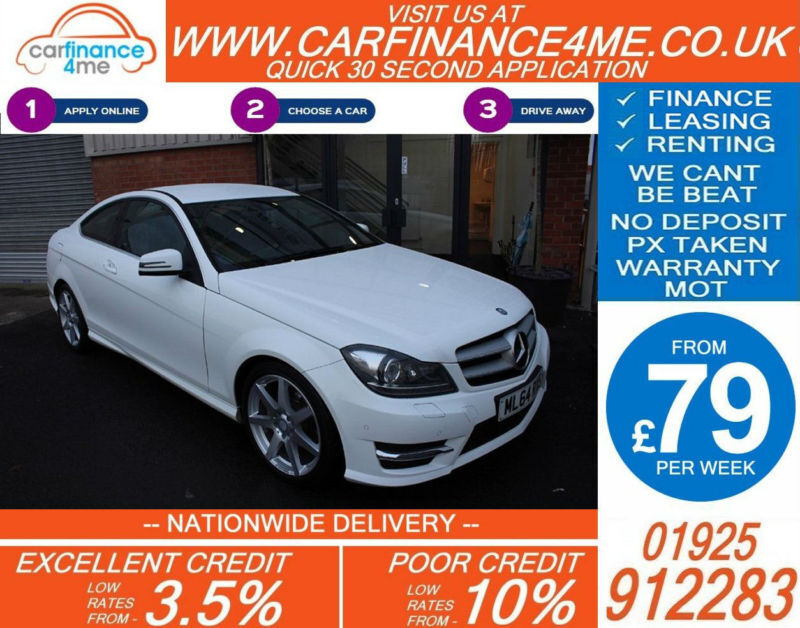 2014 MERCEDES C220 CDI AMG SPORT EDT GOOD / BAD CREDIT CAR FINANCE FROM 79 P/WK