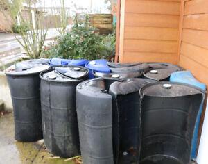planter half barrels - $10  each