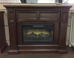 """Incredible Deal for a 50"""" Dark Brown Fireplace Media Console"""
