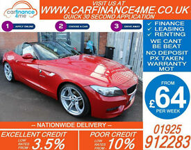2012 BMW Z4 2.0 SDRIVE M-SPORT GOOD / BAD CREDIT CAR FINANCE FROM 64 P/WK