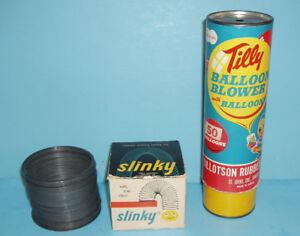 VINTAGE 1960-60's les JOUETS SLINKY et TILLY