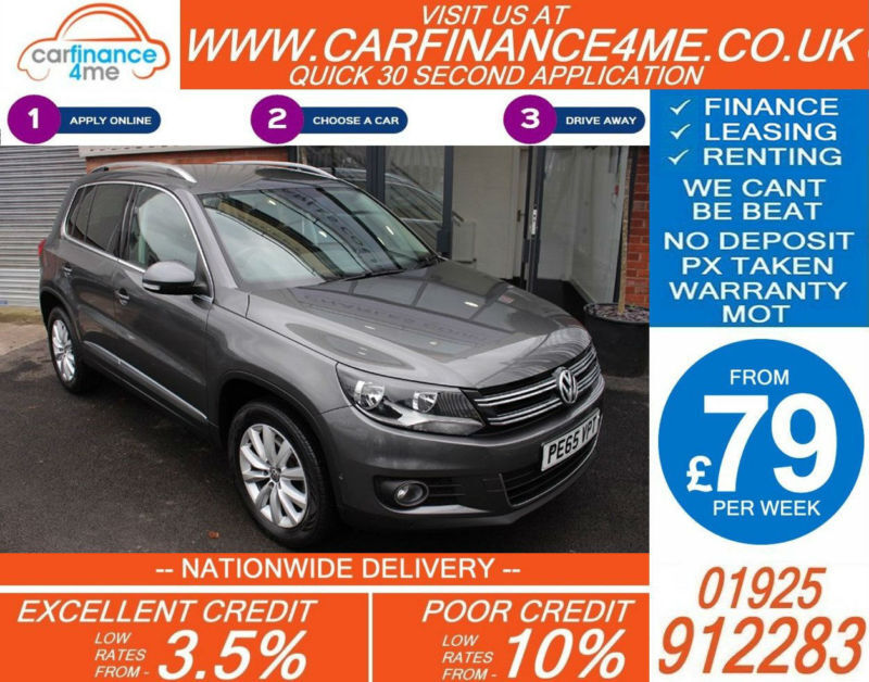 2015 VW TIGUAN 2.0 TDI MATCH 4WD GOOD / BAD CREDIT CAR FINANCE FROM 79 P/WK