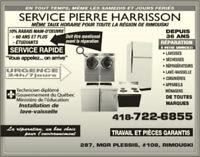 Réparation d'appareils ménagers à Rimouski et les environs