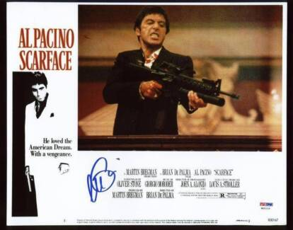 Scarface the movie Autographed Photos (Al Pacino) Robina Gold Coast South Preview