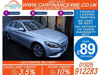 2014 MERCEDES C220 CDI SPORT GOOD / BAD CREDIT CAR FINANCE FROM 89 P/WK