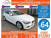2014 BMW 118D 2.0 TD M-SPORT GOOD / BAD CREDIT CAR FINANCE FROM 64 P/WK