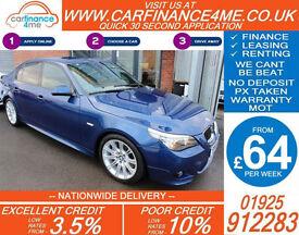 2009 BMW 535D 3.0 TD M-SPORT GOOD / BAD CREDIT CAR FINANCE FROM 64 P/WK