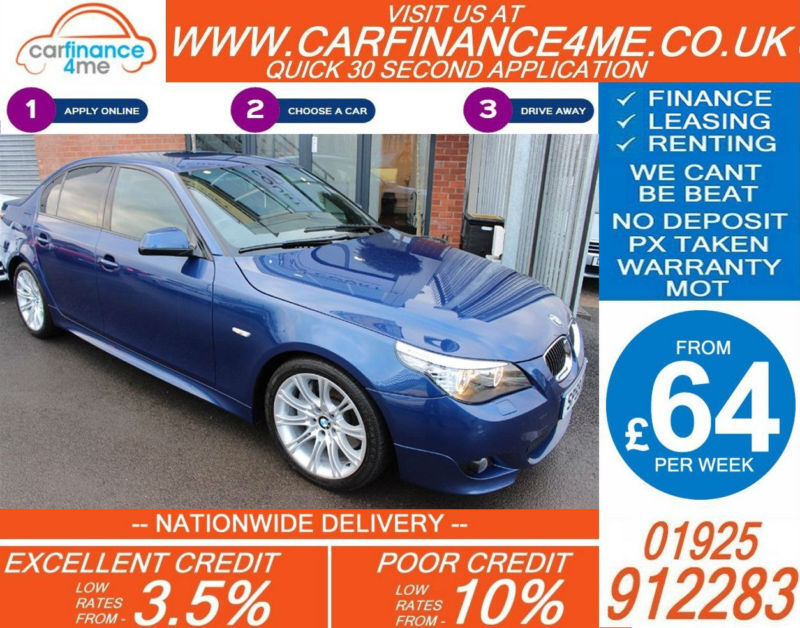 2009 BMW 535D 3.0 TD M-SPORT GOOD / BAD CREDIT CAR FINANCE FROM 64 P/WK