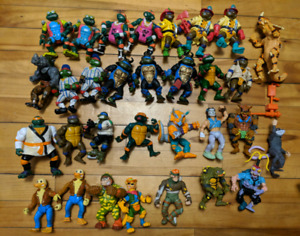 Vintage Teenage Mutant Ninja Turtles Lot TMNT Action Figure 80s