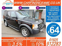 2008 LAND ROVER DISCOVERY 2.7 TDV6 GS GOOD BAD CREDIT CAR FINANCE FROM 64 P/WK
