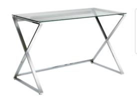 Brand new glass top desk
