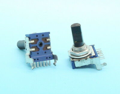 2 X 14mm Alps Rk14 A50k 50k Audio Taper Potentiometer D Shaft 7-pin Pc Mount