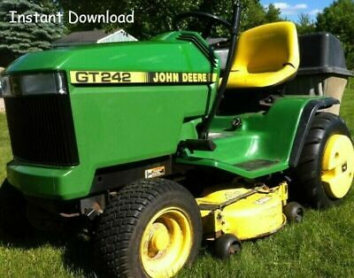 John Deere GT242 GT262 GT275 LAWN GARDEN TRACTOR TECHNICAL MANUAL TM1582 PDF