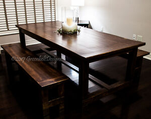 NEW FARMHOUSE COLLECTION DINING ROOM TABLE &BENCH SET