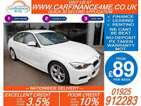 2013 BMW 330D 3.0 TD M-SPORT GOOD / BAD CREDIT CAR FINANCE FROM 89 P/WK