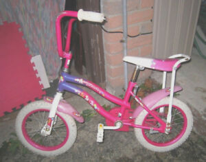 """My Little Pony"" Girl 14"" Bike with large seat, good working"