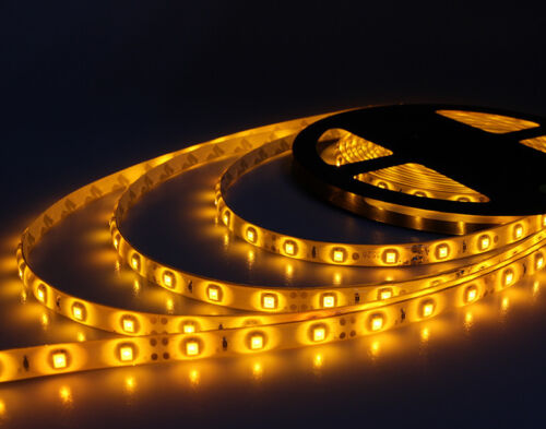 Boat Accent Light WaterProof LED Lighting Strip RV SMD 300 LEDs 16 ft/5M Yellow