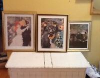 3 beaux tableaux cadres à vendre