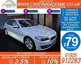 2013 BMW 520D 2.0 TD SE GOOD / BAD CREDIT CAR FINANCE FROM 79 P/WK