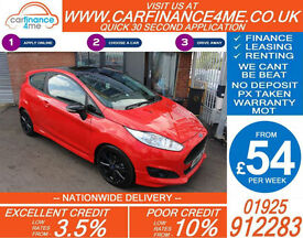 2014 FORD FIESTA 1.0 ZETEC S RED EDT GOOD / BAD CREDIT CAR FINANCE FROM 54 P/WK