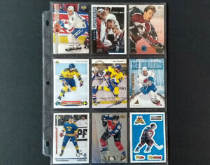 PETER FORSBERG HOCKEY CARD COLLECTION (81 CARDS TOTAL)