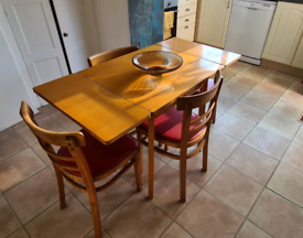 Small dining kitchen table - Retro 1950/60s plus 3 chairs and stool
