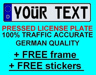Custom GERMAN EURO license plate Volvo Audi BMW Porsche Volkswagen Mercedes tag