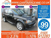 2012 RANGE ROVER SPORT 3.0 SDV6 HSE GOOD / BAD CREDIT CAR FINANCE FROM 99 P/WK