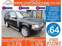 2007 RANGE ROVER VOGUE 3.6 TDV8 GOOD / BAD CREDIT CAR FINANCE FROM 64 P/WK