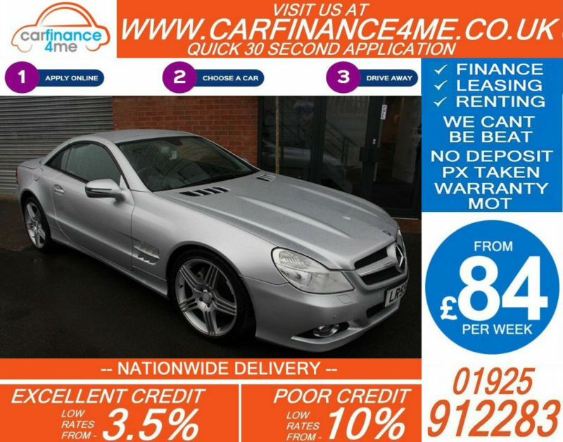 2009 MERCEDES SL350 CONVERTIBLE GOOD / BAD CREDIT CAR FINANCE FROM 84 P/WK