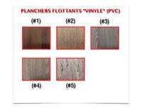"""(444-12)  LIQUIDATION..  PLANCHER FLOTTANT """"VINYLE"""" (PVC) 1.89$"""