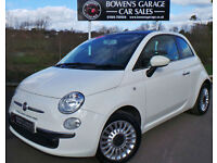 2011 (60) FIAT 500 1.2 LOUNGE (S/S) - LOW MILES - FULL S/H - £30 TAX