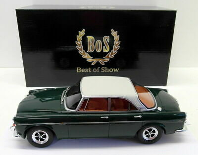 BoS BEST OF SHOW MODELS  -  ROVER P5b COUPE GREEN METALLIC (RHD) 1:18 SCALE
