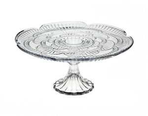 AMERICAN VINTAGE COLLECTION CLEAR GLASS PEDESTAL CAKE