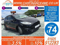 2015 FORD FIESTA 1.6 ST-2 GOOD / BAD CREDIT CAR FINANCE FROM 74 P/WK